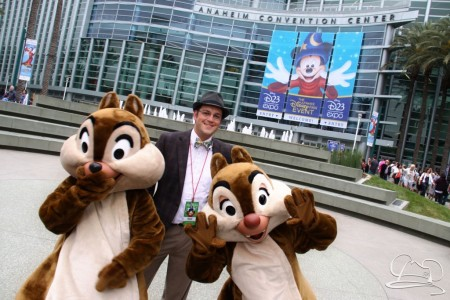 Mr. DAPs at the 2013 D23 Expo with Chip & Dale