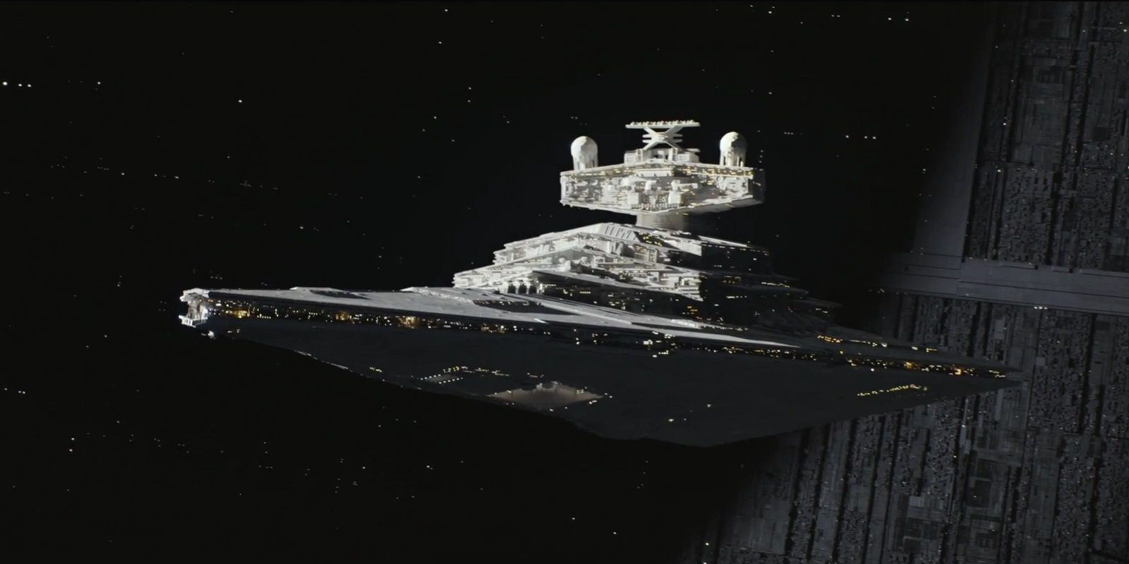 Star Destroyer by Death Star - Rogue One: A Star Wars Story