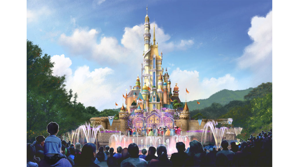 Hong Kong Disneyland Castle Rendering