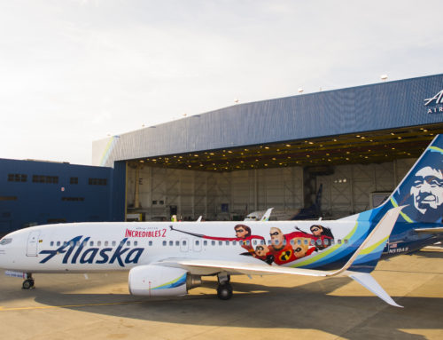 Alaska Airlines Unveils Incredibles 2 Themed Plane