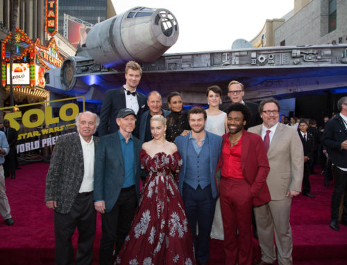 Millennium Falcon Arrives in Hollywood for Solo: A Star Wars Story World Premiere