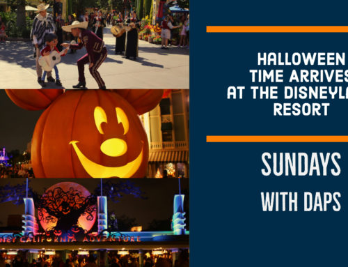 Halloween Time Arrives at the Disneyland Resort – Sundays with DAPs