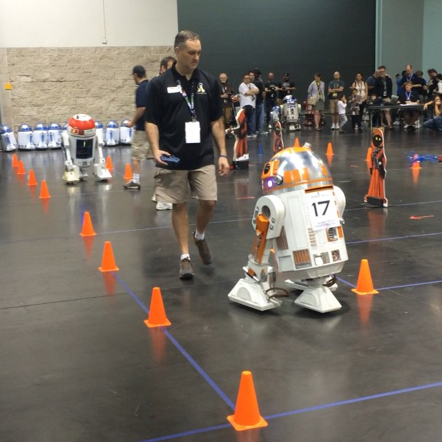 Droid races at Star Wars Celebration