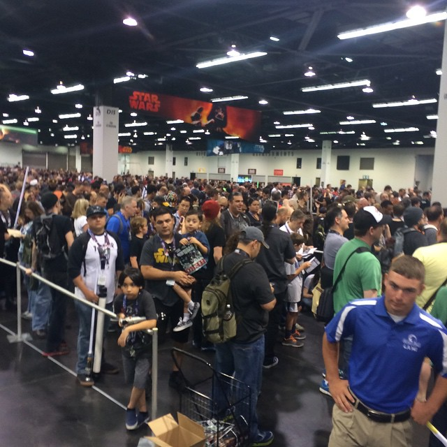 A LOT of People Wanting to Get Into the Star Wars Rebels Panel This Morning!