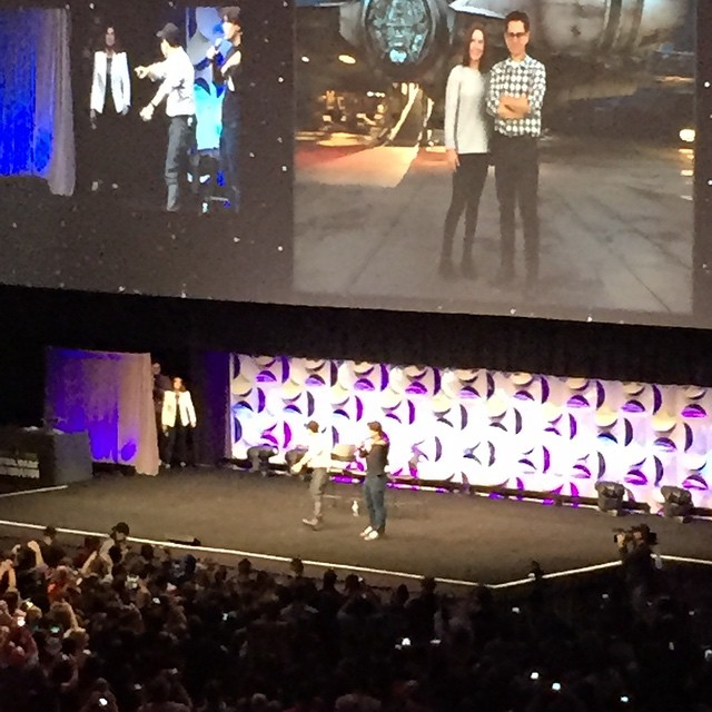 Abrams takes the stage #SWCA #StarWars #SWCelebration #ForceAwakens