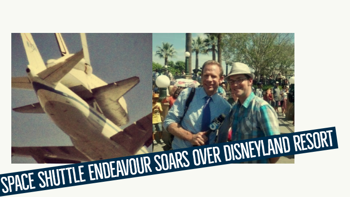 Space Shuttle Endeavour Soars Over Disneyland Resort