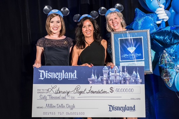 Disneyland Resort's Million Dollar Dazzle Awards Check to 'Literacy Project Foundation'
