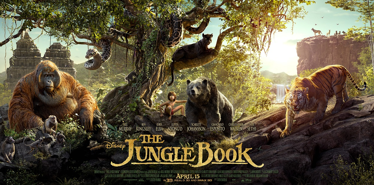 Walt Disney Studios Shares New Triptych Poster for 'The Jungle Book'