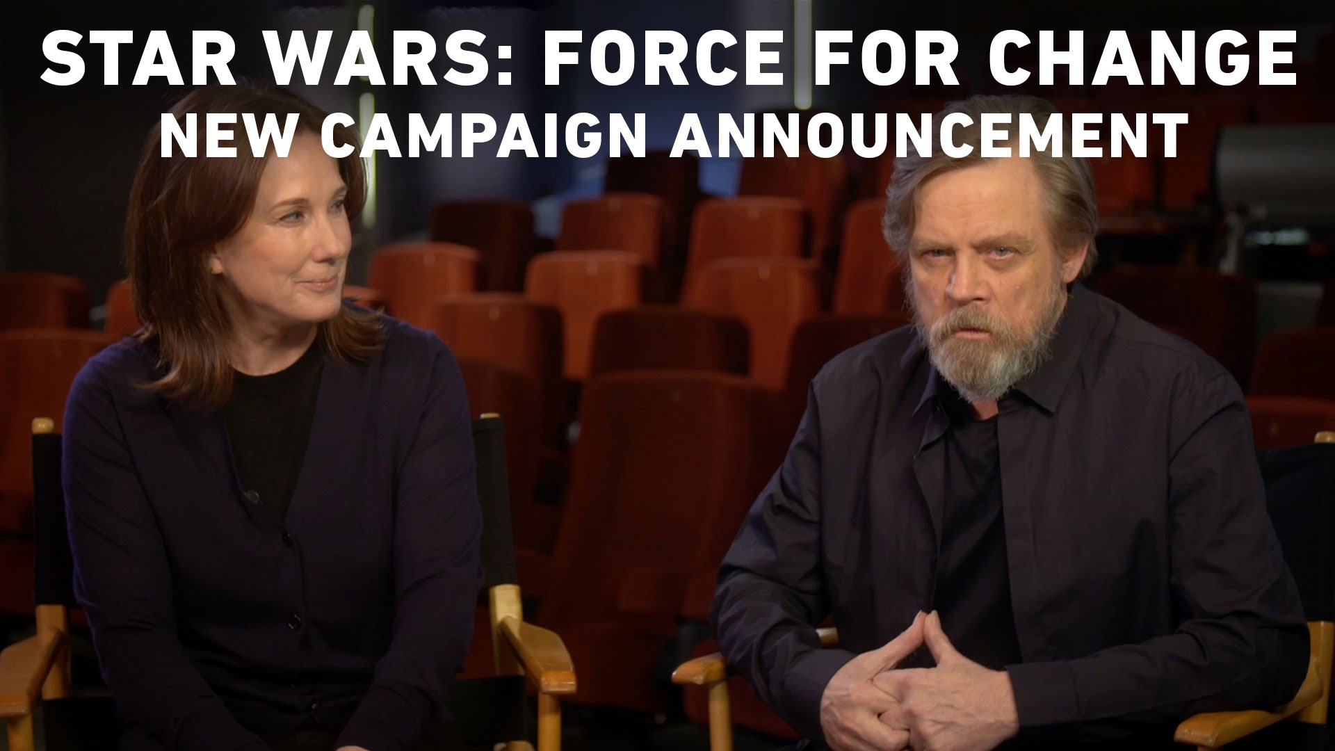 Kathleen Kennedy & Mark Hamill Announce New Star Wars: Force For Change Campaign