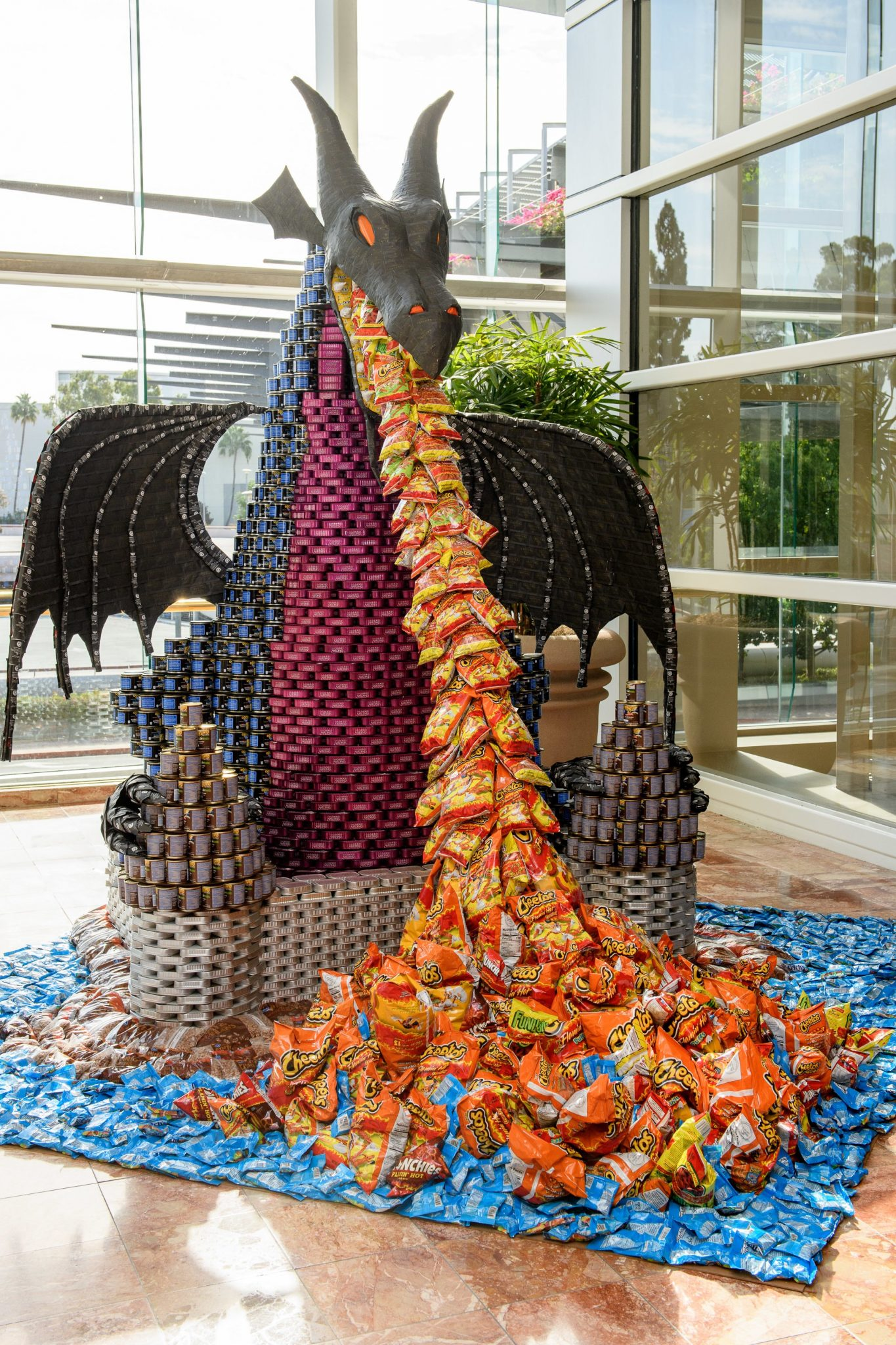 "Disney VoluntEARS Create Fantasmic! ""CANstruction"" To Help Put An End To Hunger"
