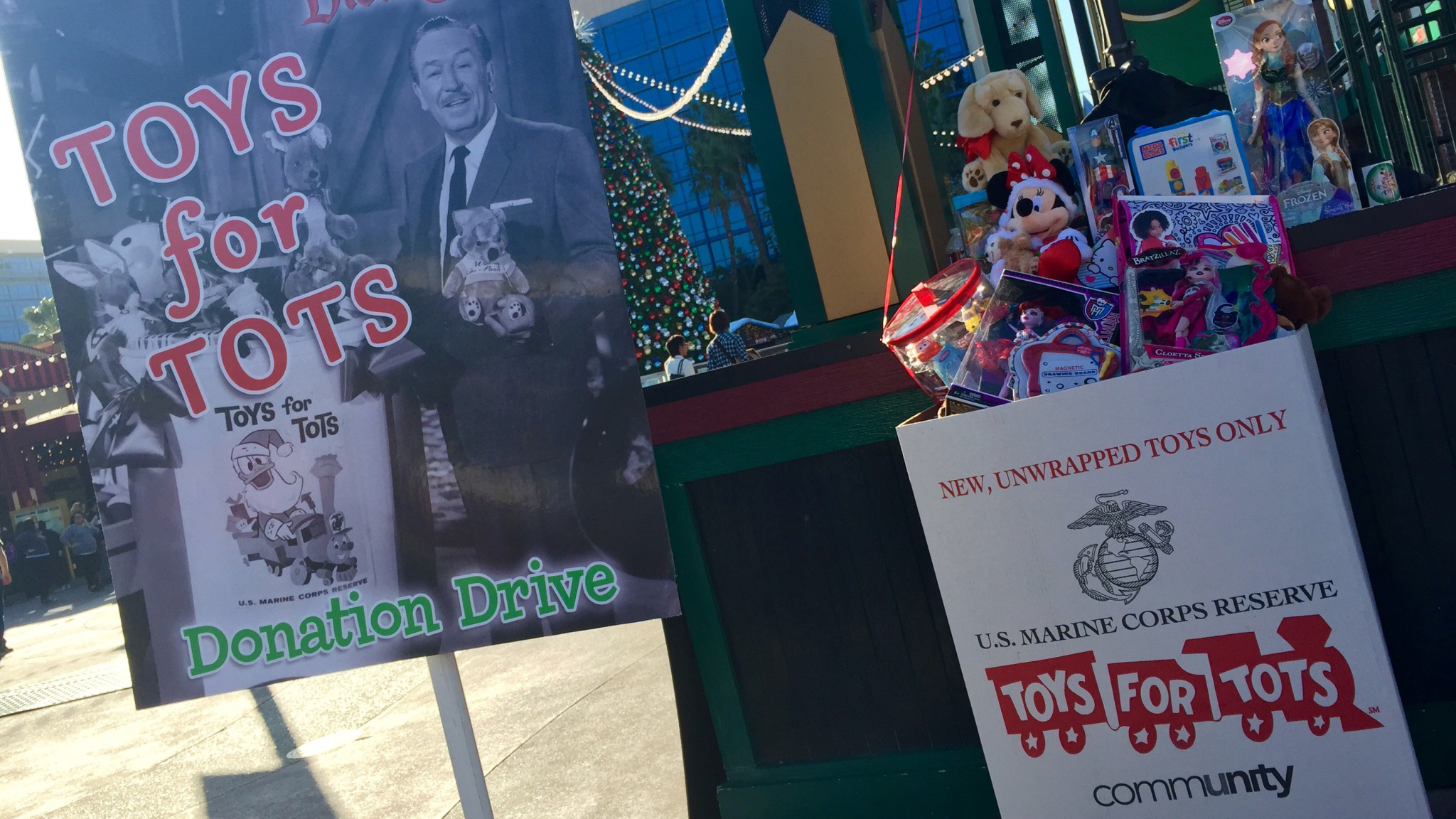Toys for Tots Donation Drive Comes to Downtown Disney District December 2 and 3