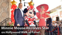 Minnie Mouse Receives Star on Hollywood Walk of Fame!