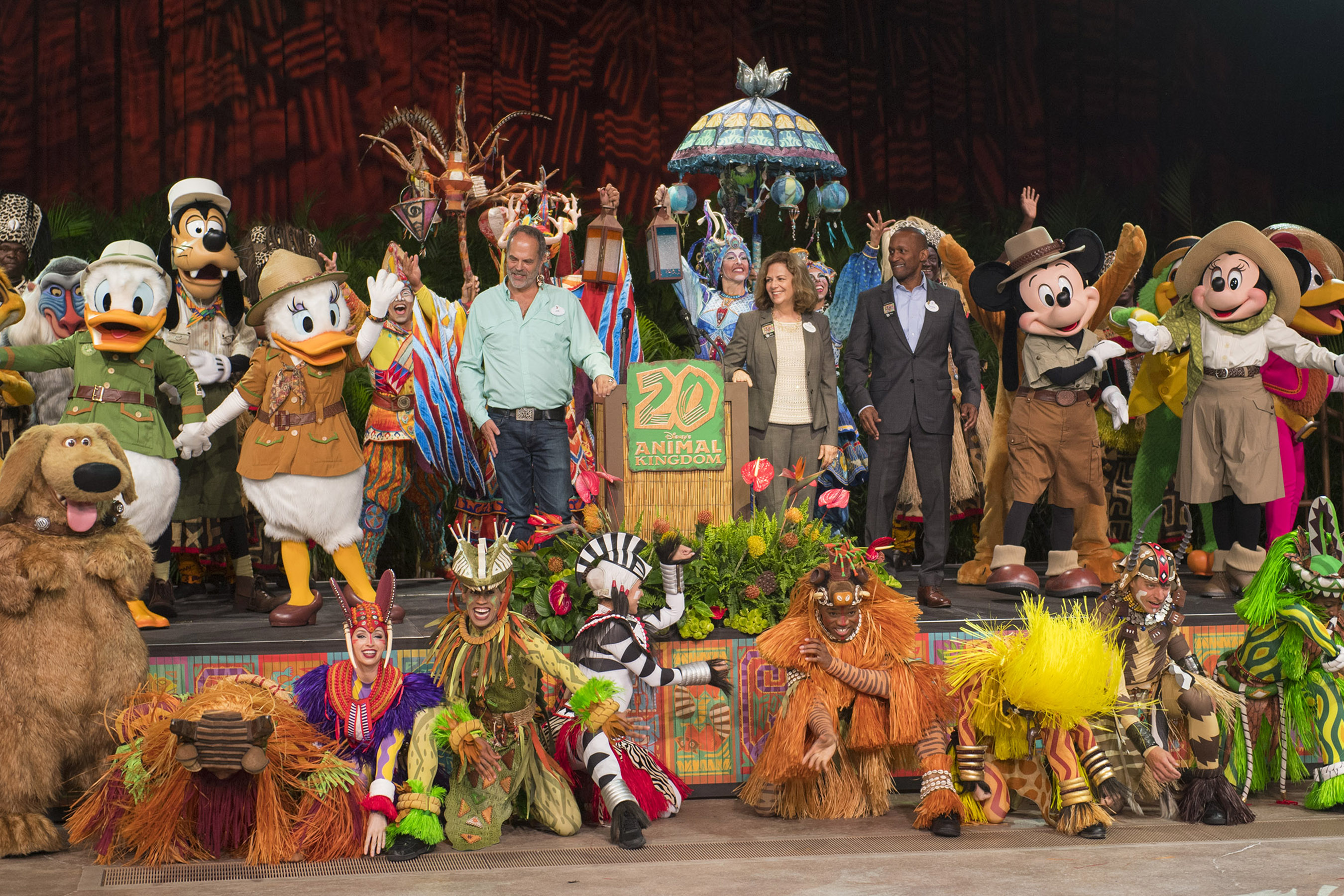 """""""New Species of Theme Park."""" Disney's Animal Kingdom Marks 20-Year Anniversary in Special Earth Day Ceremonies"""