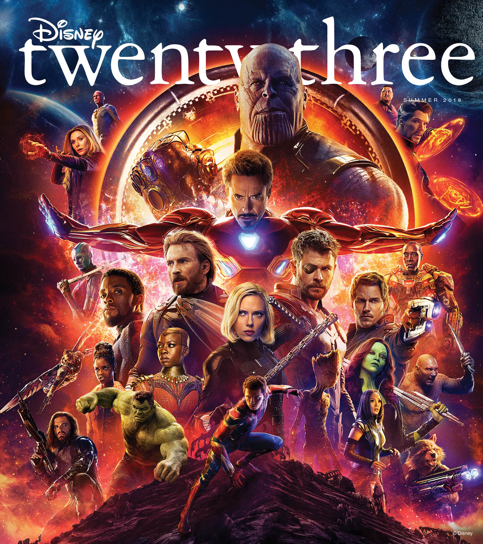 D23 - Disney Twenty-Three Summer Edition Avengers Cover