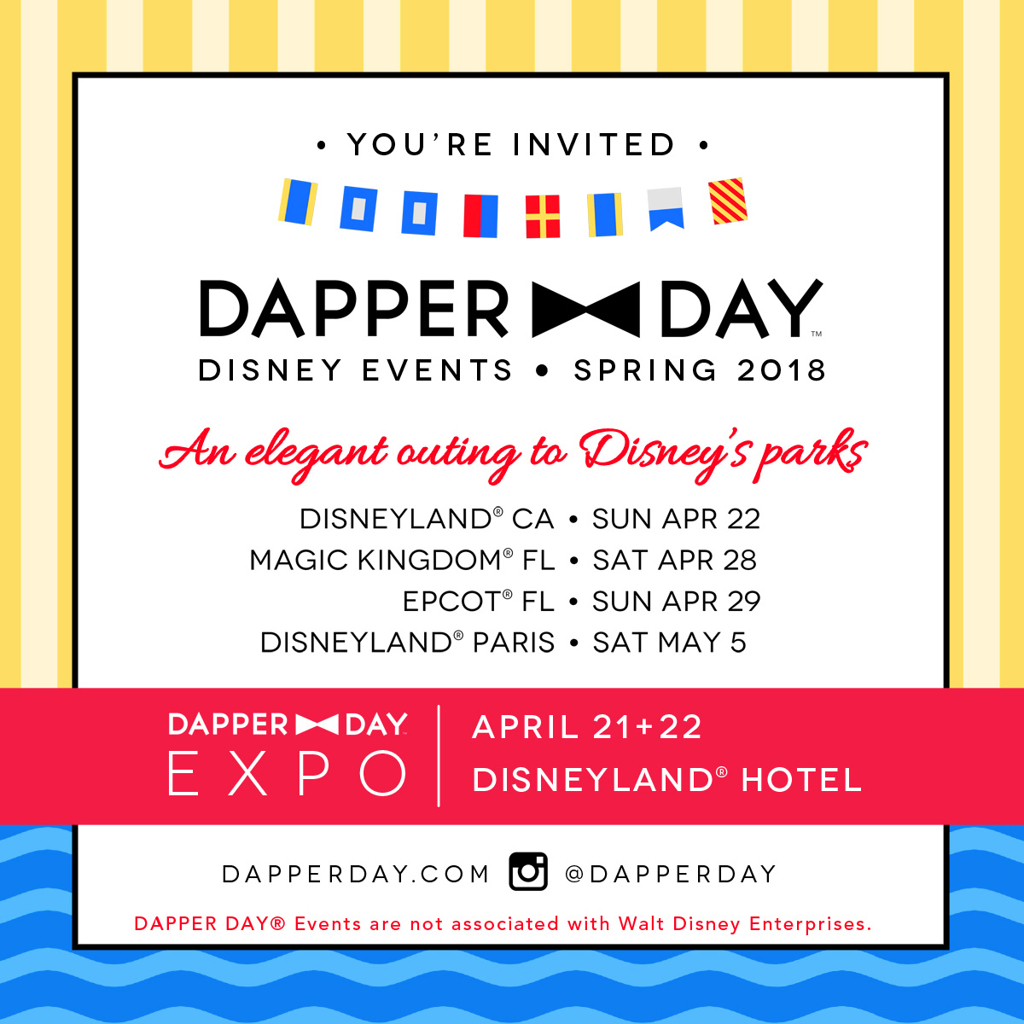Step Out in Style for Dapper Day Spring Outing 2018 at the Disneyland Resort