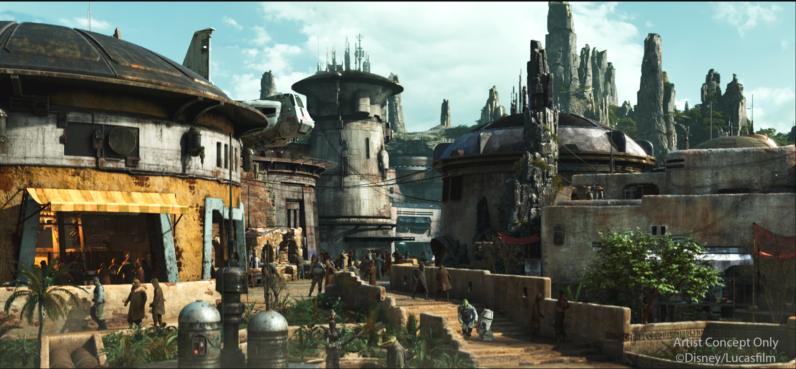 Details About Black Spire Outpost on Star Wars: Galaxy's Edge Planet Batuu Revealed at Star Wars: Galactic Nights