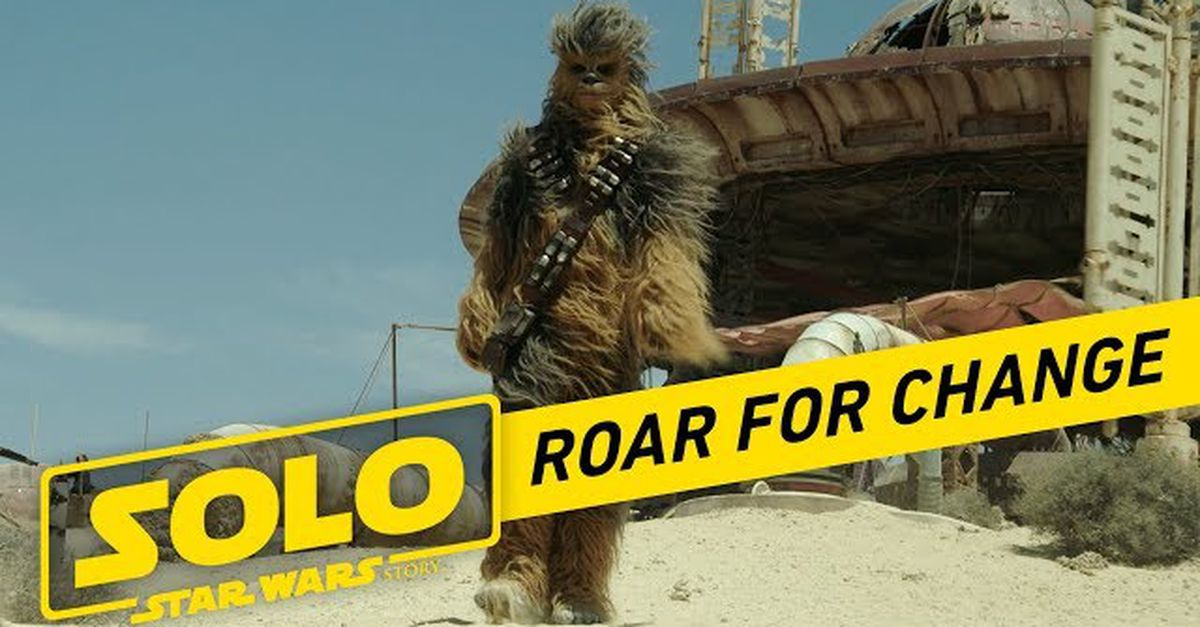 Chewbacca Roar for Change