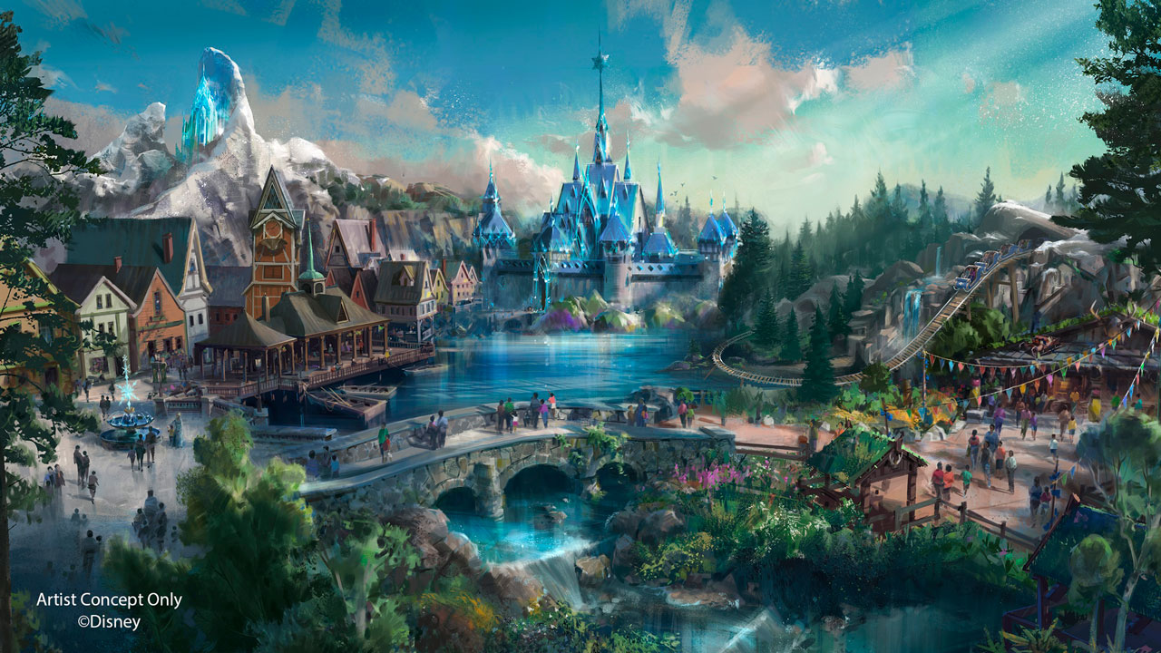 Hong Kong Disneyland - Frozen Land Rendering