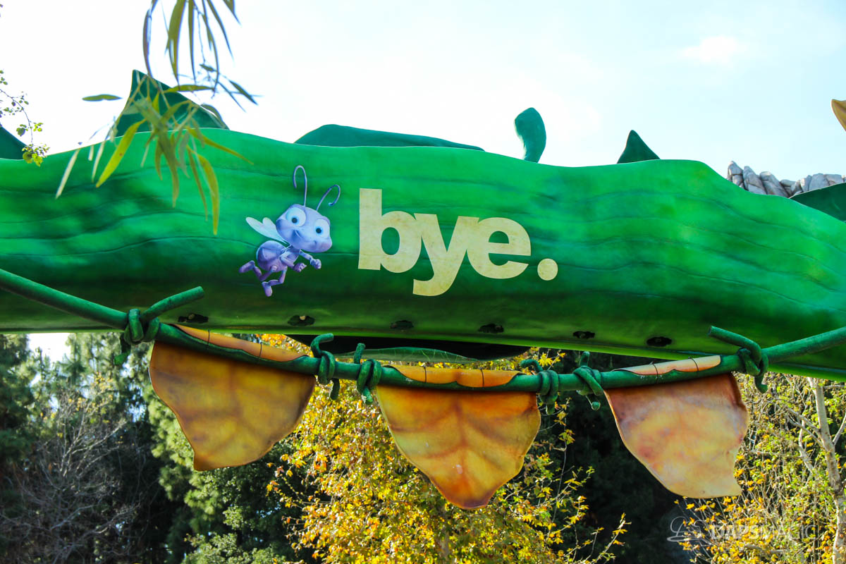 a bug's land says goodbye