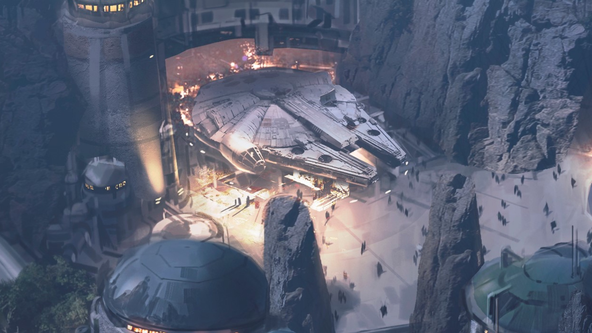 Get a Look Inside the Cockpit of the Millenium Falcon at Star Wars: Galaxy's Edge with Solo: A Star Wars Story