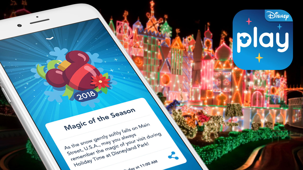 Experience the Holidays in an All New Way with Play Disney Parks App
