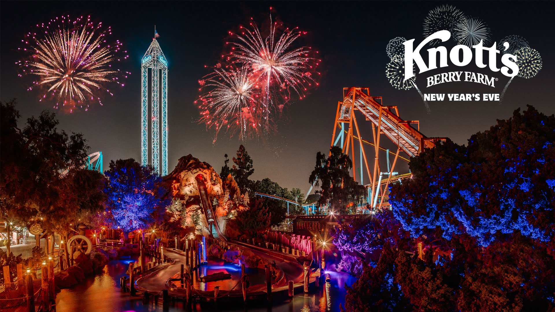 Join Knott's Berry Farm on New Year's Eve for Spectacular Fireworks and Musical Celebrations