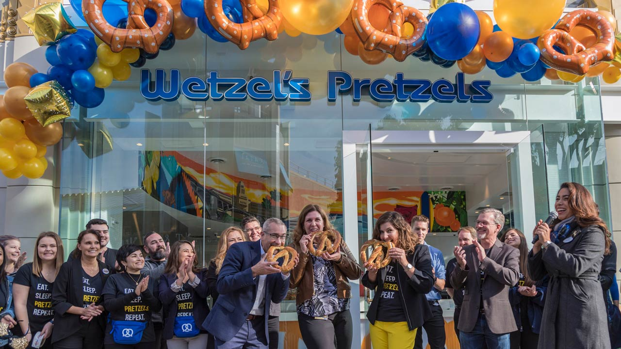 Flagship Store of Wetzel's Pretzels Reopens in Downtown Disney District at the Disneyland Resort
