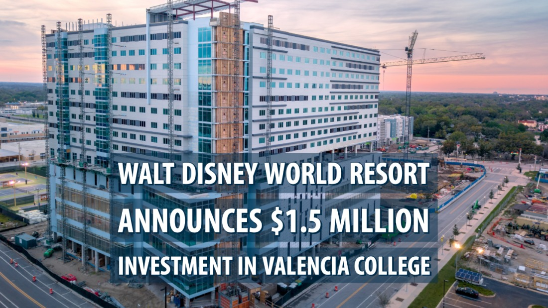 Walt Disney World Resort announces $1.5 million investment in Valencia College for state-of-the-art culinary arts and hospitality facility in downtown Orlando