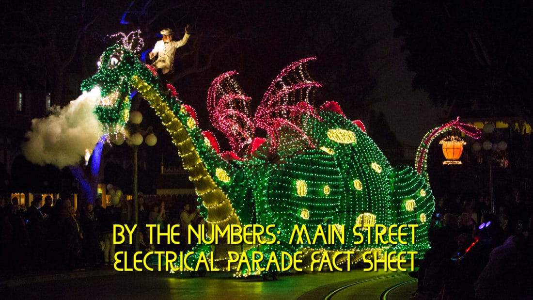 By the Numbers: Main Street Electrical Parade Fact Sheet