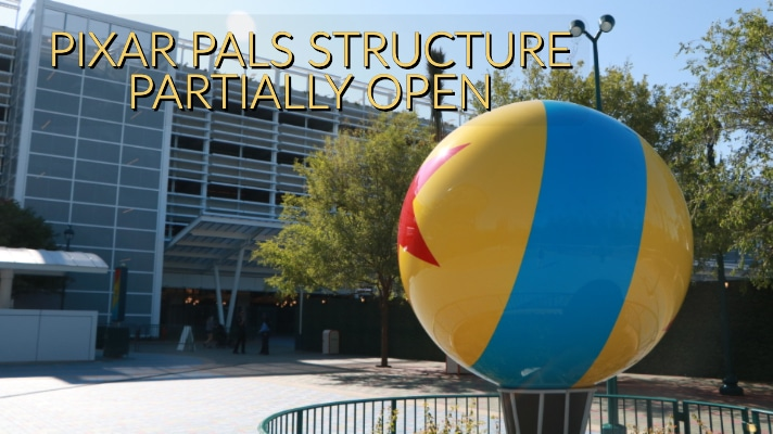 Pixar Pals Parking Structure Opens New Tram Loading and Security Area to the Public