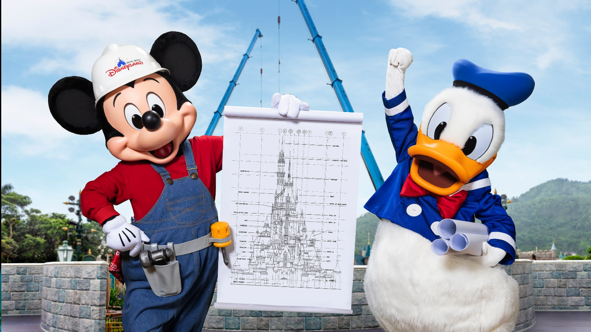 Hong Kong Disneyland Castle Transformation Reaches New Stage with Tower Additions Representing Beloved Disney Princess Stories