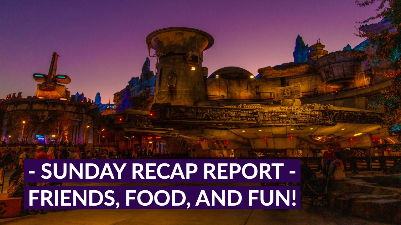 Sunday Recap Report - Friends, Food, and Fun!