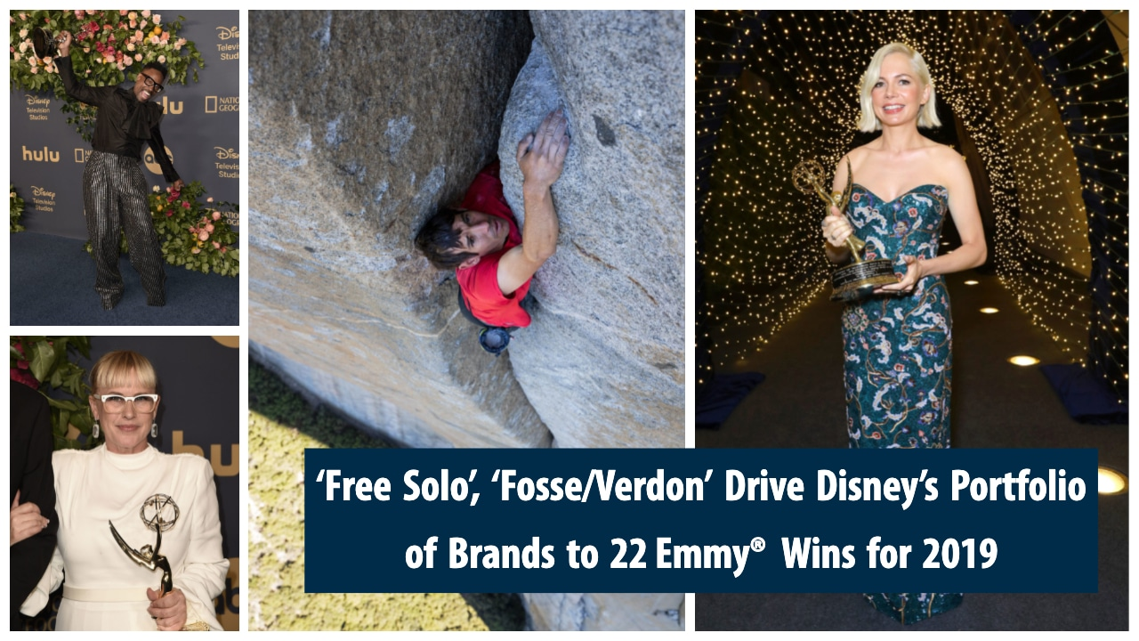 'Free Solo', 'Fosse/Verdon' Drive Disney's Portfolio of Brands to 22 Emmy® Wins for 2019