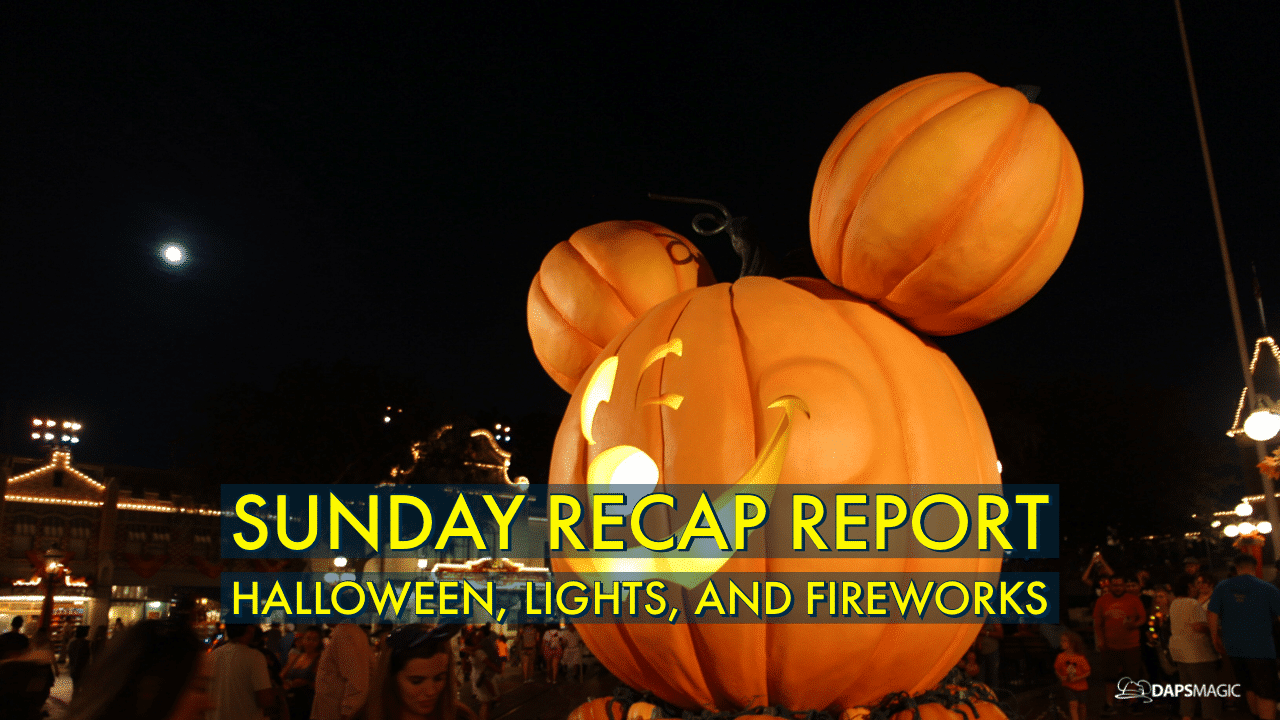 Sunday Recap Report - Halloween, Lights, and Fireworks