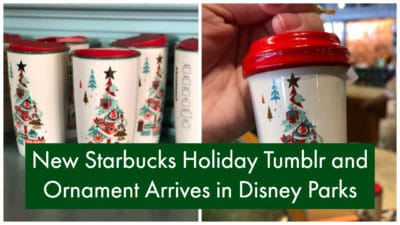 New Starbucks Holiday Tumblr and Ornament Arrives in Disney Parks