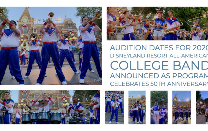 Audition Dates for 2020 Disneyland Resort All-American College Band Announced as Program Celebrates 50th Anniversary