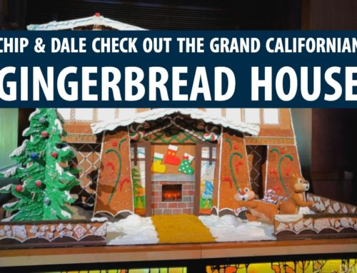 Chip & Dale Check Out the Grand Californian Gingerbread House at the Disneyland Resort