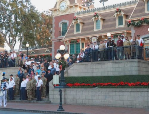 Disneyland Honors Cast Member Veterans During Special Patriotic Flag Retreat