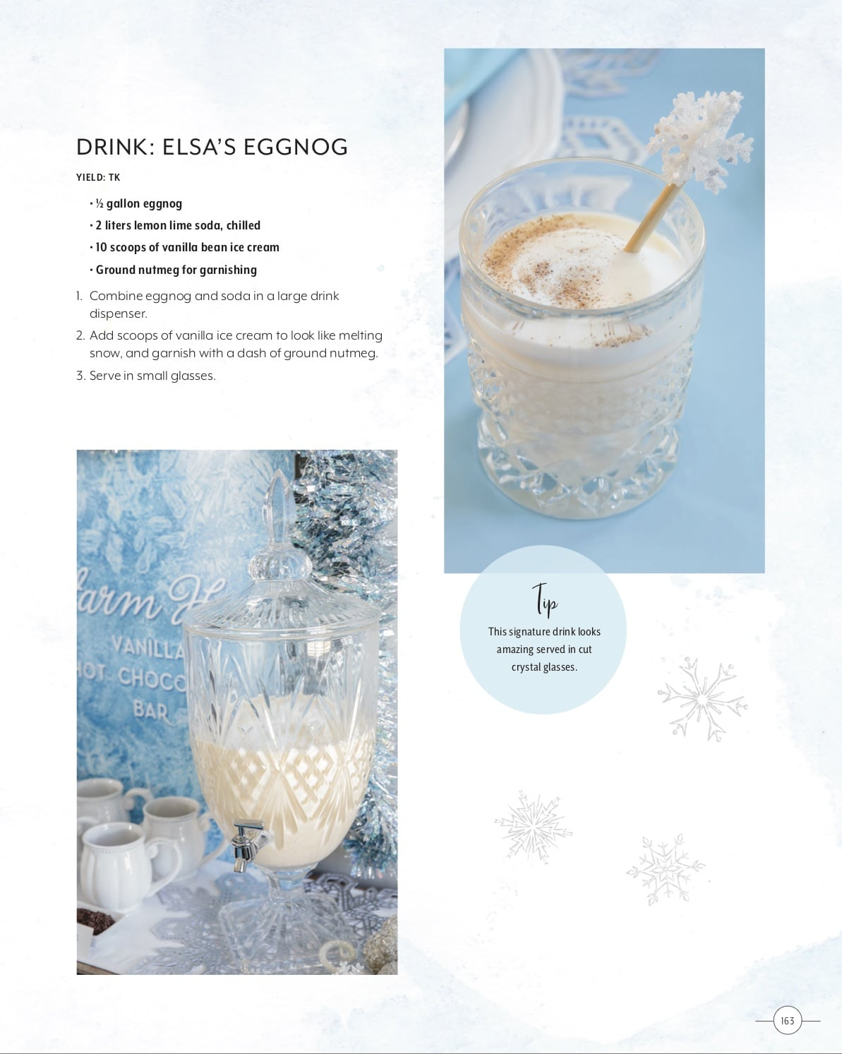 Elsa's Eggnog From Entertaining with Disney - GEEK EATS Recipe