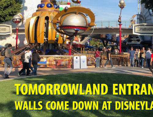 Tomorrowland Entrance Walls Come Down at Disneyland