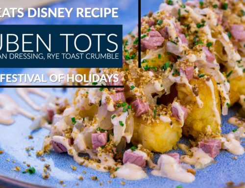 Reuben Tots With Russian Dressing, Rye Toast Crumble – Disney Festival of Holidays – GEEK EATS Disney Recipe
