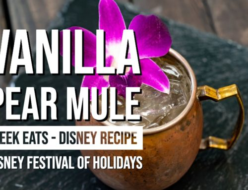 Vanilla Pear Mule – Disney Festival of Holidays – GEEK EATS Disney Recipe