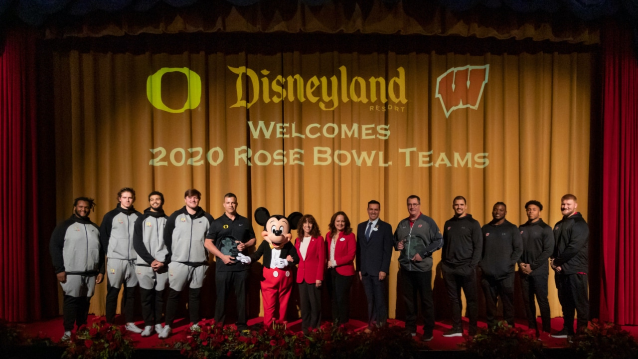 2020 Rose Bowl Teams at Disneyland