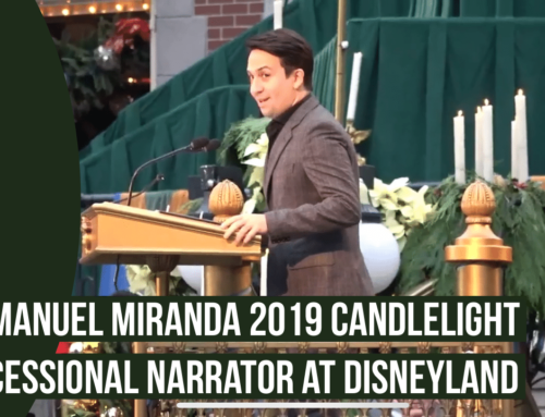 Lin-Manuel Miranda the Narrator for 2019 Candlelight Processional at the Disneyland Resort