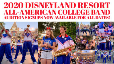 2020 Disneyland Resort All-American College Band Audition Signups Now Available for All Dates!