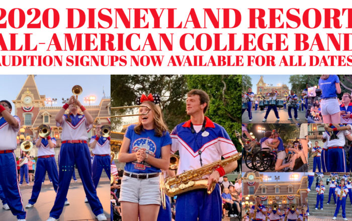 Disneyland Resort All-American College Band Audition Signups Now Available for All Dates!