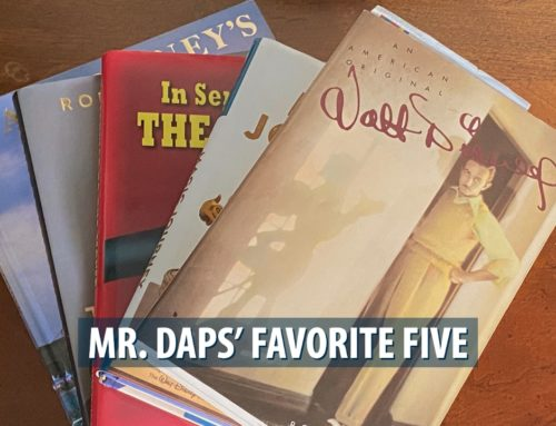 Mr. DAPs' Favorite Five – Disney Books – December 15, 2019