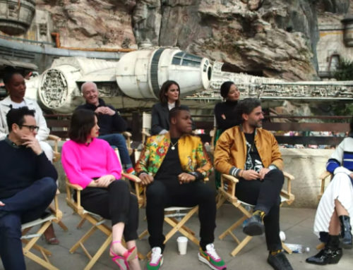 """The Rise of Skywalker"" Cast Answers Questions in Star Wars: Galaxy's Edge in Disneyland"