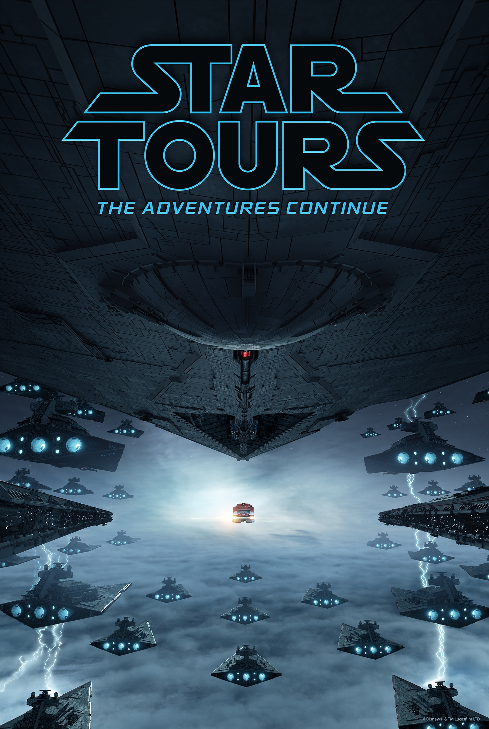 Star Tours: The Adventures Continue Star Wars The Rise of Skywalker Attraction Poster