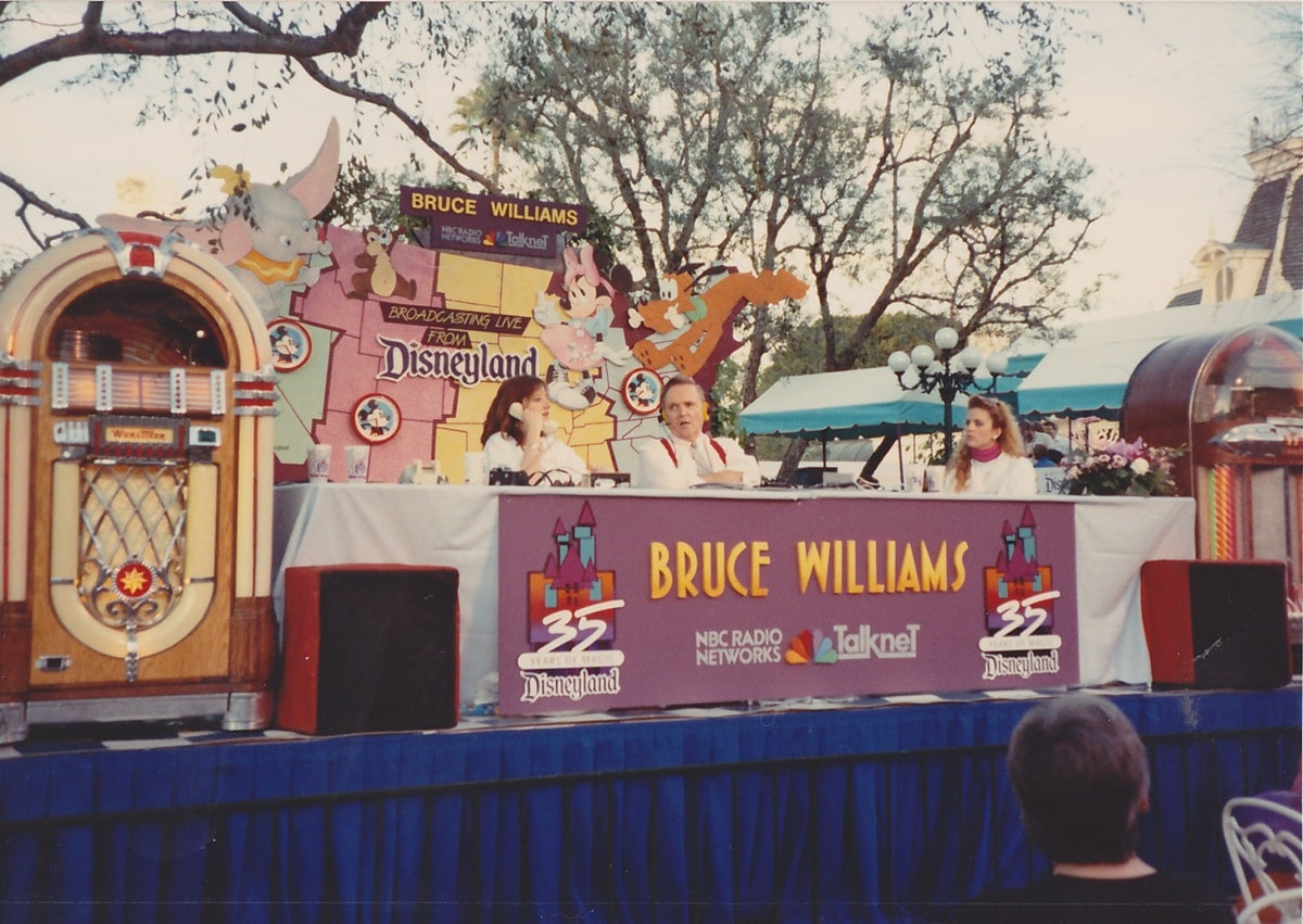 Bruce Williams had a more elaborate set-up than most